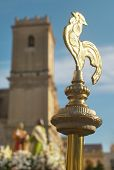 Golden Baton. Easter Procession In Elche, Alicante, Valencia. Spain