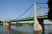 France, Suspension Bridge Of Triel Sur Seine
