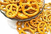 Some Salted Pretzels Closeup