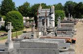 France, The Cemetery Of Evecquemont In Les Yvelines