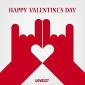 Valentine Happy Love Hand Sign