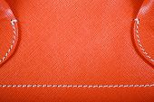 Orange Stitched Leather