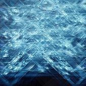 abstract background of ice squares with sparkles