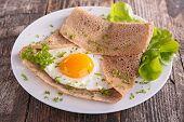 buckwheat crepe and egg