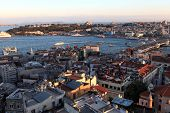 View Of Golden Horn From Galata Tower