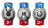 Toggle Switch set with clipping path
