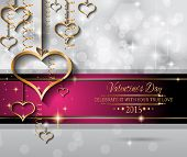 Valentine's Day background for dinner invitations, romantic letterheads, book covers, poster layout or couple themed parties.