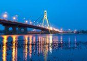 Moscow bridge in Kiev. Ukraine