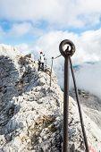 Safety Fence On Mountain Ridge