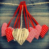 Lovely Hearts Decoration. Valentines Day Concept