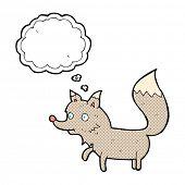 cartoon little wolf