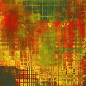 Beautiful vintage background. With different color patterns: yellow (beige); brown; red (orange); green