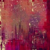 Grunge texture, distressed background. With different color patterns: purple (violet); yellow (beige); brown; pink; red (orange)