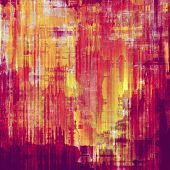 Grunge stained texture, distressed background with space for text or image. With different color patterns: purple (violet); yellow (beige); pink; red (orange)