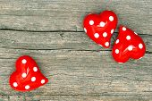 Red Hearts. Lovely Valentines Day Decoration