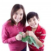 Kids Popping Bubble Wrap.