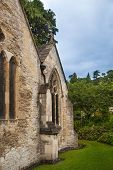 CHIPPENHAM, UK - AUGUST 9, 2014: Old church in  Castle Combe village.
