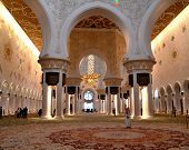 Sheikh Zayed Mosque In Abu Dhabi, United Arab Emirates