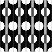 art deco black and white seamless pattern