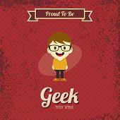 cartoon geek guy character