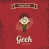 cartoon geek girl character