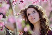 young woman outdoor in spring