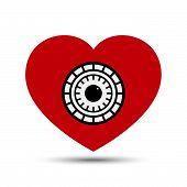 Vector Love Heart Safe Security Concept