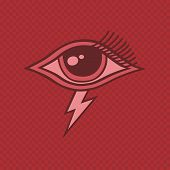 pic of horus  - all seeing eye of horus vintage art vector illustration - JPG