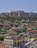 Acropolis and Plaka, Athens Greece