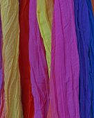 colorful fabrics closeup, fashion background