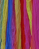 variety of colorful fabrics closeup