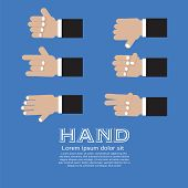 Hand Signs Vector Set.