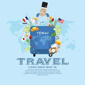 Travel Vector Illustration Concept.