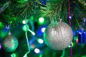 Christmas Ball On A Branch