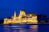 Parliament of Budapest at night