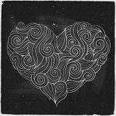 chalkboard vector heart