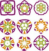 Absrtact flower design elements