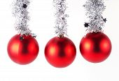 Red Christmas Balls Isolated