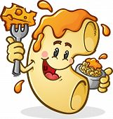 Macaroni and Cheese Cartoon Character