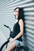 Summer Portrait With Bike
