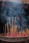 Burn incense,