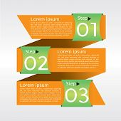 Abstract banner vector in three step.