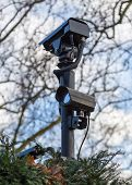 Camera Surveillance For Security On A Plot Of Land