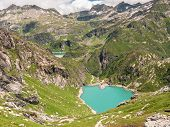 Lake Lago Di Robiei And The Dam