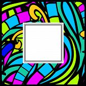 Stained-glass Abstract Frame