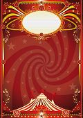 circus red vortex background. A retro circus background with a vortex shape for your entertainment