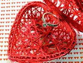 Heart-shaped Container And A Big Diamond Ring