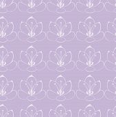 seamless Violet background with white flowers. saffron flowers.