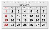 Calendar February 2015