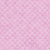 Pink And White Shell Tiles Pattern Repeat Background